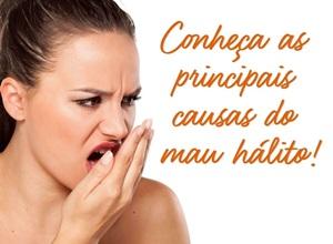 causas do mau hálito
